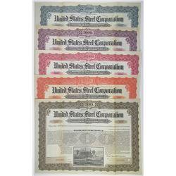 United States Steel Corp. 1903 Registered Specimen Bond Quintet (5)