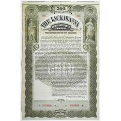 Lackawanna Iron and Steel Co. 1896 Specimen Bond