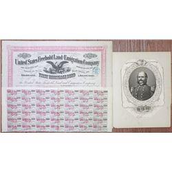 United States Freehold Land and Emigration Co. 1870 Bond Signed by General Ambrose Burnside & Burnsi