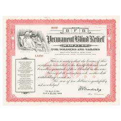 BFB - Permanent Blind Relief War Fund, For Soldiers and Sailors, 1914-19 WWI Related Specimen Donati
