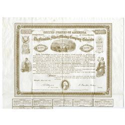Franklin Silver Mining Company of Colorado, 1869 Issued Bond