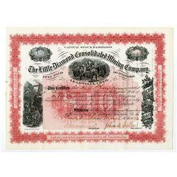 Little Diamond Consolidated Mining Co. 1882 I/U Stock Certificate