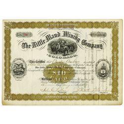 Little Maud Mining Co. of Colorado, 1883 I/U Stock Certificate