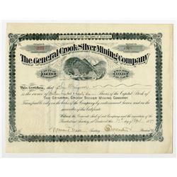 General Crook Silver Mining Co. 1897 I/U Stock Certificate