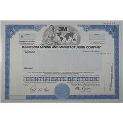 Minnesota Mining and Manufacturing Co. 1990 Specimen Stock Certificate