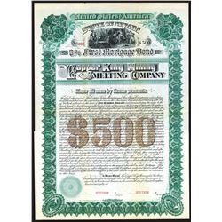 Copper King Mining and Smelting Co. 1886 Specimen Bond.