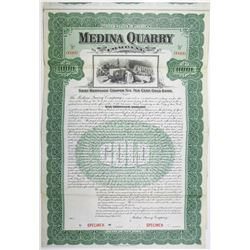 Medina Quarry Co. 1902 Specimen Bond