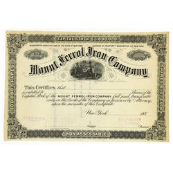 Mount Ferrol Iron Co., 1880's Specimen Stock Certificate