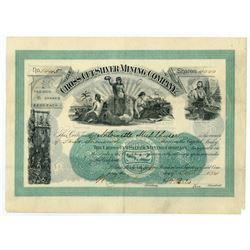 Cross-Cut Silver Mining Co. of Cleveland, 1894 I/U Stock Certificate.