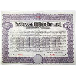Tennessee Copper Co. 1909 Specimen Bond