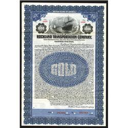 Rockland Transportation Co. 1922 Specimen Bond.
