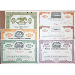 United States Lines Co., 1960's Specimen Stock and Bond Group of 6