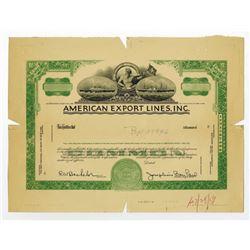 American Export Lines, Inc. 1984 Proof Stock Certificate