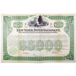 New York Dock Co. 1901 Specimen Bond