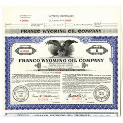 Franco Wyoming Oil Co., 1930 Specimen Bond