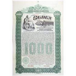 Ogden Gas Co. 1900 Specimen Bond
