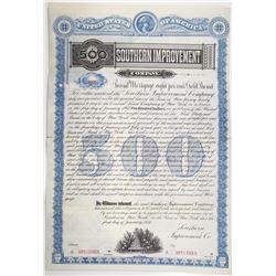 Southern Improvement Co. 1886 Specimen Bond