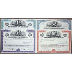Marathon Oil Co., 1970 Specimen Bond and Stock Certificate Quartet