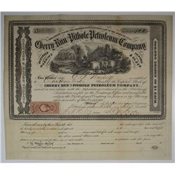 Cherry Run and Pithole Petroleum Co., 1865 I/U Stock Certificate.