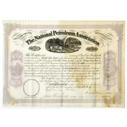 National Petroleum Association, 1866 Stock Certificate