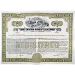 """Texas Corp. """"TEXACO"""", 1940 Specimen Bond"""