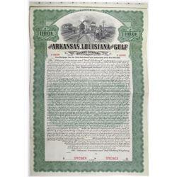 Arkansas, Louisiana and Gulf Railway Co. 1907 Specimen Bond Rarity