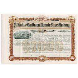Ft. Smith and Van Buren Electric Street Railway Light & Power Co., 1894 Specimen Bond