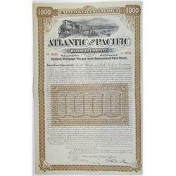 Atlantic and Pacific Railroad Co. Western Division 1887 I/U Bond