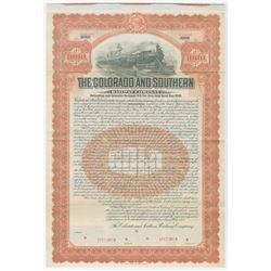 Colorado and Southern Railway Co., 1905 Specimen Bond