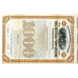Denver and Rio Grande Railroad Co. 1886 Specimen Bond