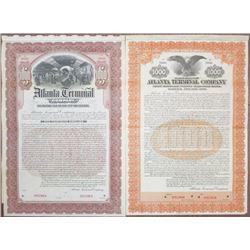 Atlanta Terminal Co., 1903 and 1913 Specimen Bond Pair