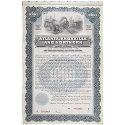 Atlanta, Knoxville and Northern Railway Co. 1902 Specimen Bond
