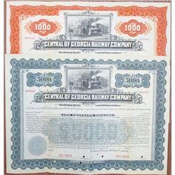 Central of Georgia Railway Co., 1895 Specimen Bond Pair.