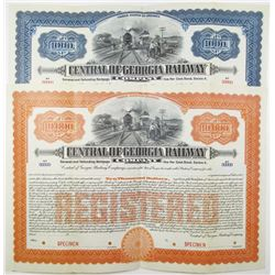 Central of Georgia Railway Co., 1912 Specimen Bond Pair.