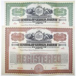 "Central of Georgia Railway Co., 1919 ""Series B"" Specimen Bond Pair"