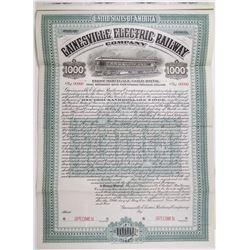 Gainesville Electric Railway Co. 1905 Specimen Bond Rarity