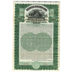 Georgia Railway & Electric Co., 1909 Specimen Bond