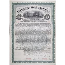 Wadley Southern Railway Co. 1906 Specimen Bond