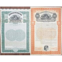 Georgia Railway and Electric Co., 1902 and 1909 Specimen Bond Pair