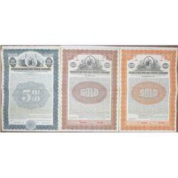Georgia Railway and Power Co., 1914 to 1922 Specimen Bond Trio