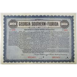 Georgia Southern and Florida Railway Co. 1906 Specimen Bond Rarity