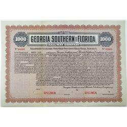 Georgia Southern and Florida Railway Co. 1910 Specimen Bond Rarity