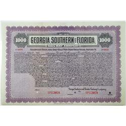Georgia Southern and Florida Railway Co. 1912 Specimen Bond Rarity