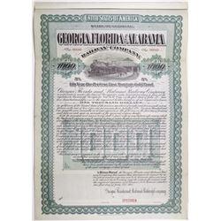 Georgia, Florida and Alabama Railway Co. 1901 Specimen Bond Rarity