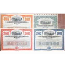 "Atlanta and Charlotte Air Line Railway Co., 1914 ""Series A"" Specimen Bond Quartet"