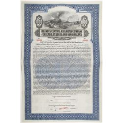 Illinois Central Railroad and Chicago, St. Louis and New Orleans Railroad Co. 1913 Specimen Bond