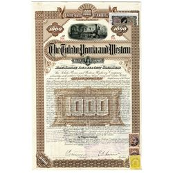 Toledo, Peoria and Western Railway Co. 1887 Issued and Partially Redeemed Bond
