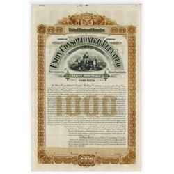 Union Consolidated Elevated Railway Co., 1896 Specimen Bond