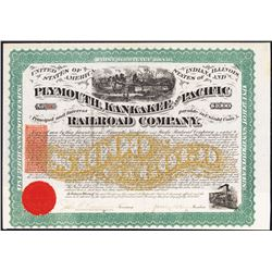 Plymouth, Kankakee and Pacific Railroad Co., 1871 I/C Coupon Bond with U.S.I.R. RN-W2.