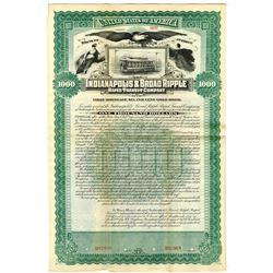 Indianapolis & Broad Ripple Rapid Transit Co., 1895 Specimen Bond